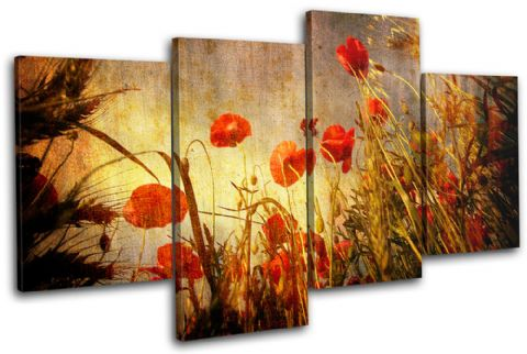 Poppies Flowers Floral - 13-0754(00B)-MP04-LO